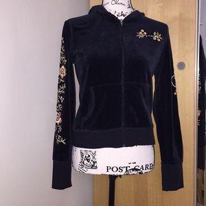 DKNY Active velvet hoodie